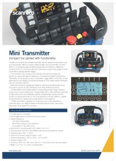 Scanreco Brochure Mini Transmitter Cover