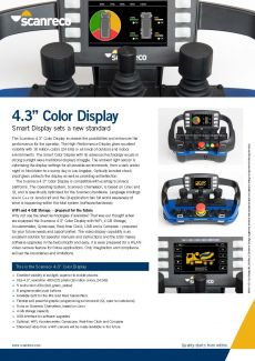 Scanreco Brochure Color Monitor Cover