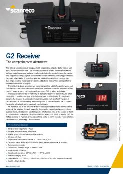 Scanreco Brochure G2 Receiver Cover