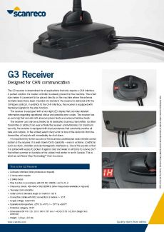 Scanreco Brochure G3 Receiver Cover