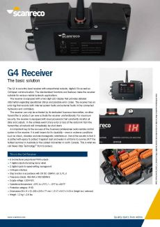 Scanreco Brochure G4 Receiver Cover
