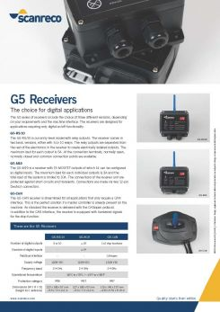 Scanreco Brochure G5 Receivers Cover