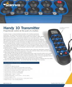 Scanreco Brochure Handy Transmitter Cover