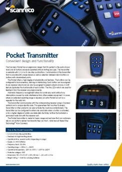 Scanreco Brochure Pocket Transmitter Cover