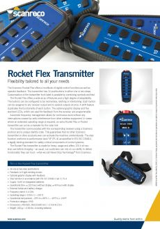 Scanreco Brochure Rocket Transmitter Cover